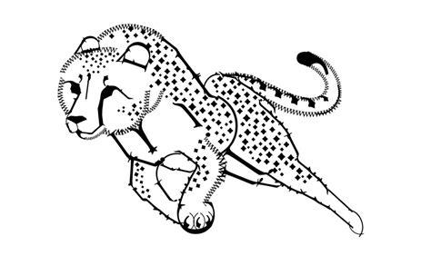 Running Cheetah Outline by Centaur Cheetah By Eleanortopsie On Deviantart