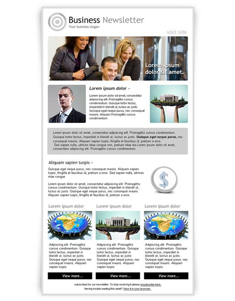 Newsletter Template Photoshop newsletter template photoshop best free email newsletter