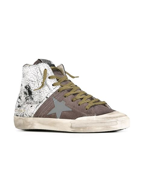 golden goose high top sneakers golden goose deluxe brand francy hi top sneakers in gray