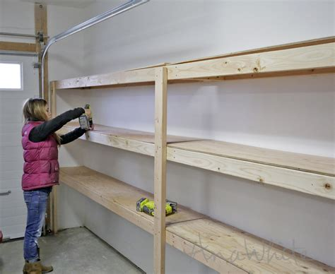 Diy Garage Storage Racks by White Easy And Fast Diy Garage Or Basement Shelving