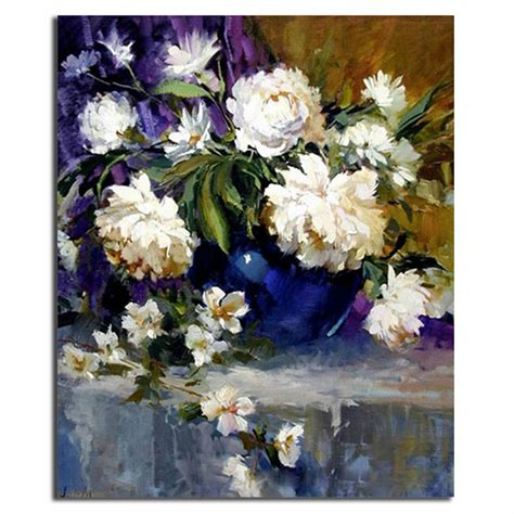 Handmade Painting - white flower painting decorative flower canvas