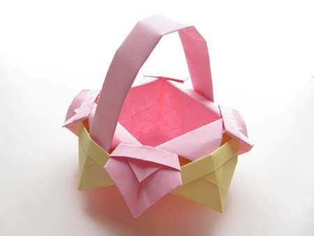Origami Baskets - origami fancy basket arts and crafts