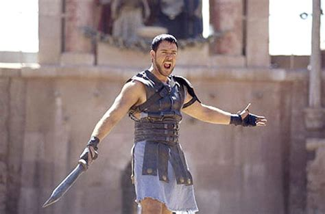 gladiator film russell crowe russell crowe photos hollywood hunks ready for battle