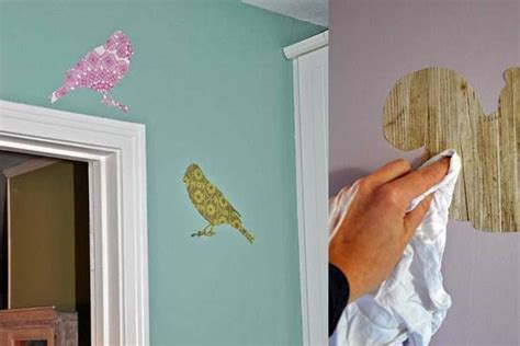 Wallpaper Scrap Crafts | make your own wall decals from wallpaper scraps copycat