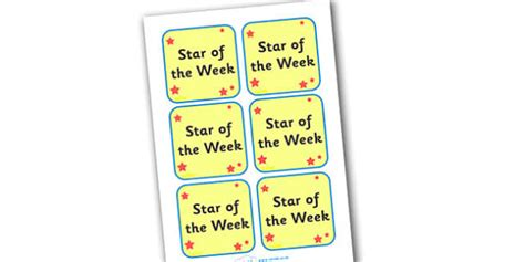 printable star of the week badge star of the week badges star starts badges badge