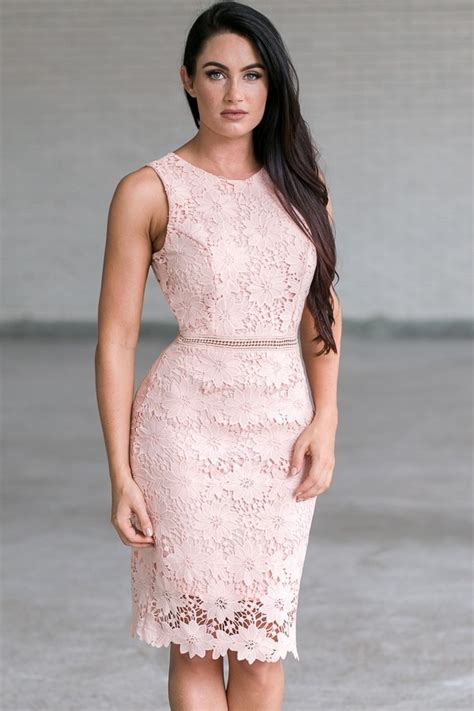 Lace Sheath Midi Dress lace sheath midi dress pale pink lace dress