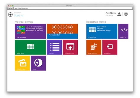ui layout framework image gallery java windows 8 metro