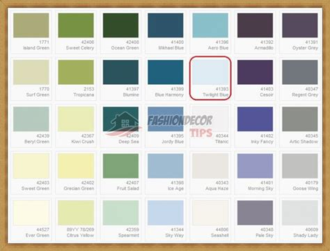dulux blue color charts and catalogue fashion decor tips