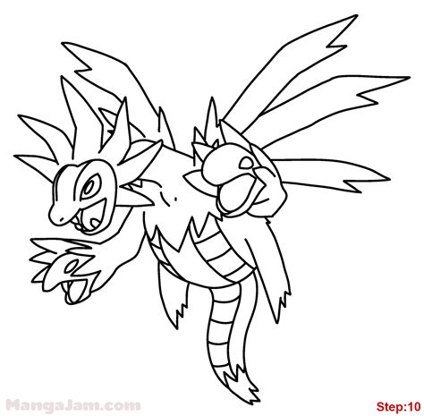 pokemon coloring pages unfezant 89 pokemon coloring pages hydreigon pokemon