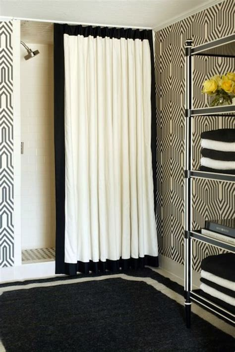 Bathroom Window Curtains Black And White 1000 Ideas About Black White Curtains On