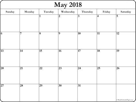 May 2018 Printable Calendar 8 Free Blank Templates 2018 Calendar Printable Calendar Template 2018