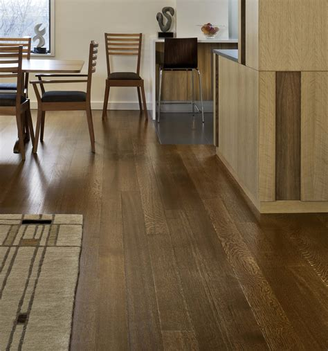 Dark Wood Floors In Small Spaces Wood Floors | dark wide plank oak hardwood floors in dining room with