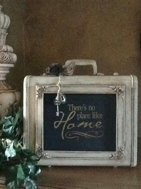 chalkboard paint frame 63 best decor suitcases vintage style images on