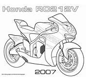 Disegno Di Moto Da Corsa Honda RC212V Colorare