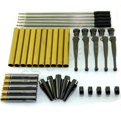 Mainan Fancy Kit Set fancy pen kit set x 5 with a gun metal finish twist mechanism ideal for woodturning projects