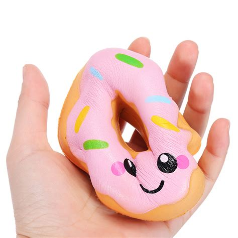Squishy Donut Biru By Sanqi Elan sanqi elan 10cm squishy kawaii smiling donuts encanto