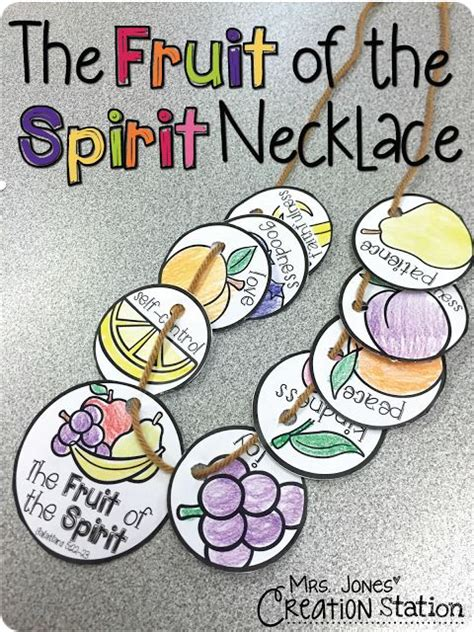 school lessons and crafts the fruit of the spirit necklace free printable to