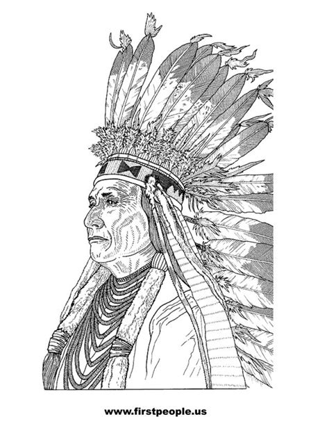 coloring book for adults india chief joseph clipart to color in american history