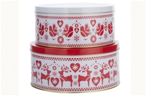 set of 3 novelty christmas cake tins top 100 food gifts for 2014 and white cake tins goodtoknow