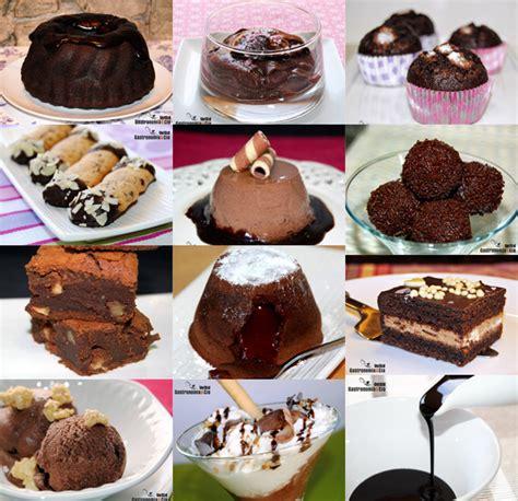 doce recetas con chocolate