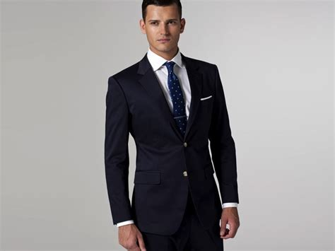 Breasted Dress Blue White M L 18298 1 classical slim fit navy blue suit single breasted tailored