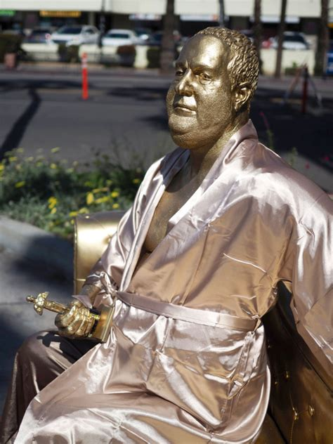rose monroe casting couch harvey weinstein statue appears in l a before oscars