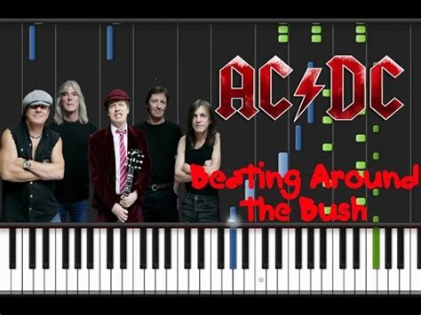 acdc beating around the bush ac dc beating around the bush piano cover tutorial