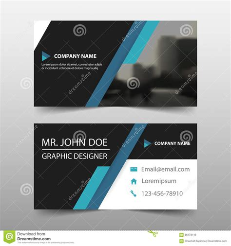 name card design template free blue black corporate business card name card template
