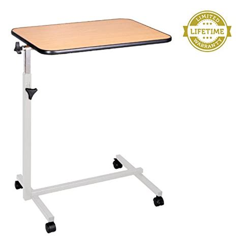 rolling bed table swivel bed tray table by vive overbed table with rolling