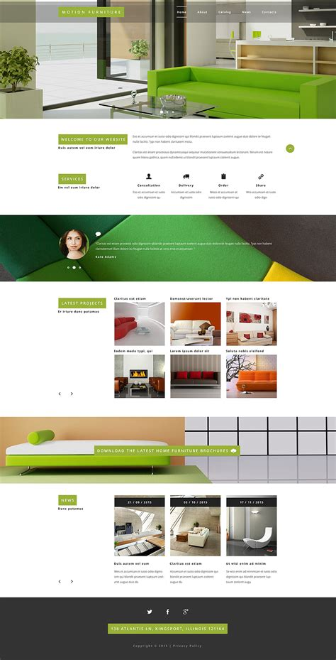 Furniture Website Template Furniture Website Templates Free