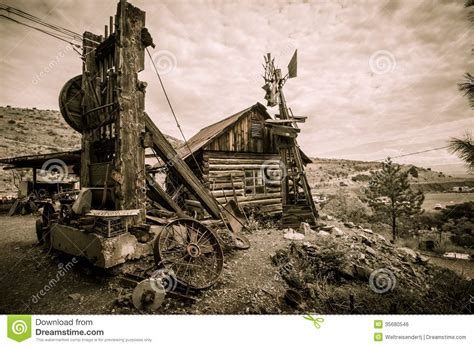 Arizona House Plans Jerome Arizona Windmill Stock Photo Image Of Ranch