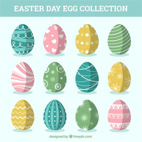 pretty easter eggs set of pretty easter eggs vector free