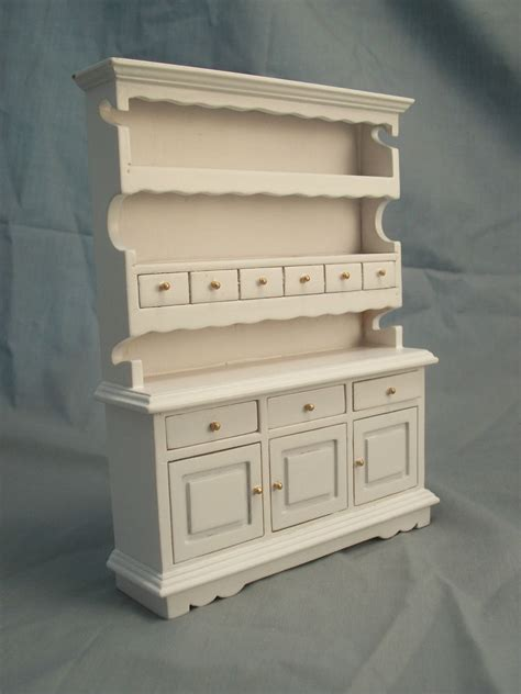 dollhouse kitchen furniture kitchen hutch white t5114 miniature dollhouse furniture