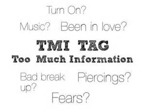 tag tmi questions smiles no matter the tmi award