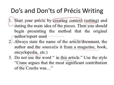 precis writing template help to make a precis