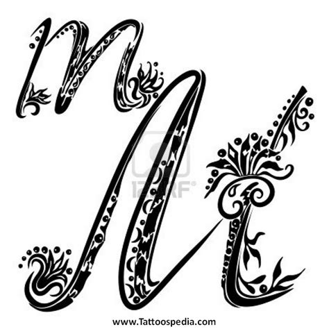 letter m tattoo letter m fonts letters font