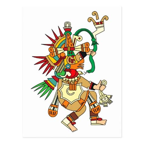 imagenes de dios quetzalcoatl dios azteca quetzalcoatl postal zazzle