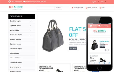 bootstrap templates for online store big shope a flat ecommerce bootstrap responsive web template