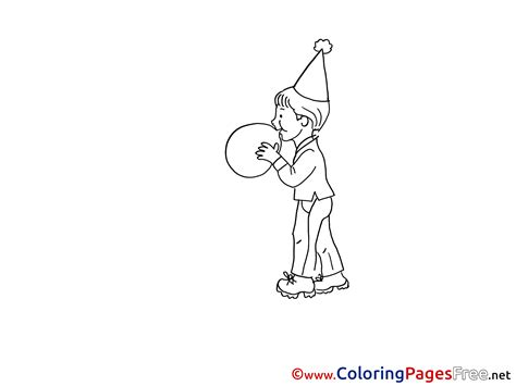 balloon boy coloring page balloon boy kids download party coloring pages