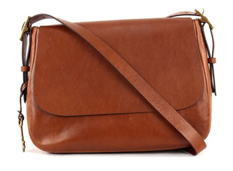 Fossil Large Crossbody Blue Brown fossil cross bag large crossbody brown