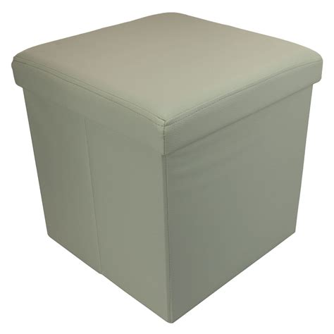 ottoman storage box small ottoman folding storage box foot rest with lid 38 x