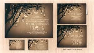 Mason jars rustic wedding invitation wedding invitations by jinaiji