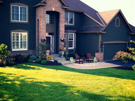 Yard House Mn by Landscaping Front Yard And Driveway Studio Design