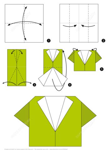Step By Step Paper Folding - how to make an origami shirt step by step