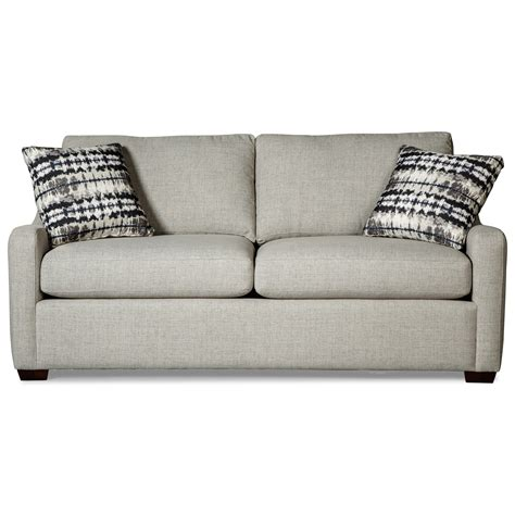 hickorycraft 7643 casual small scale sleeper sofa with