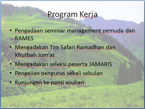 program kerja badan komunikasi pemuda remaja mesjid