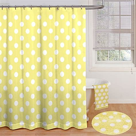 polka dot shower curtains polly polka dot 72 inch x 72 inch shower curtain bed