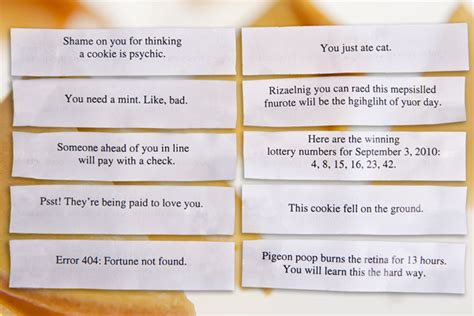 printable christmas fortune cookie sayings unfortunate cookies fun witty and devilish pack of 10