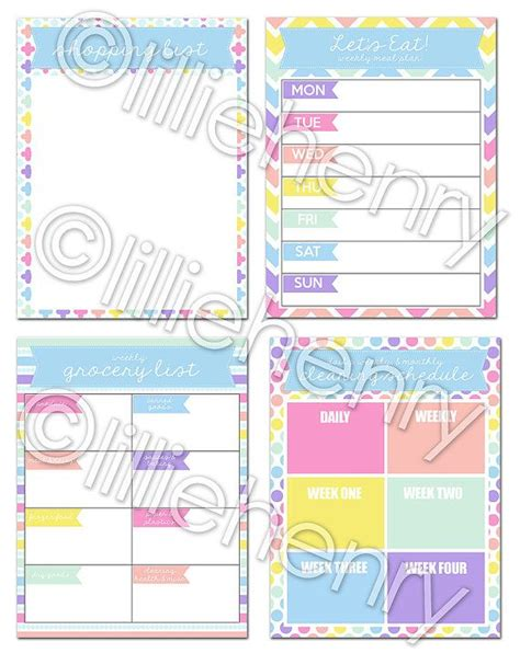 printables for erin condren life planner diy printable pdf snap in pages for the erin condren life