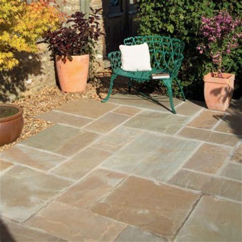 Patio Pack bradstone sandstone paving sunset buff patio pack